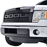 E-Autogrilles ABS Vicious Style Replacement Grille Grill with Shell for 09-14 Ford F-150 - Glossy Black