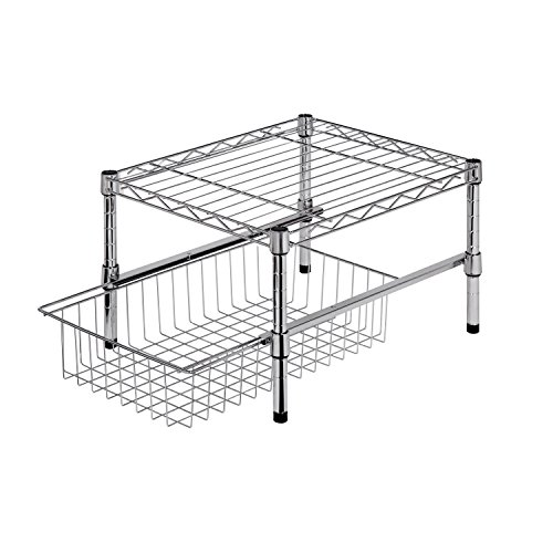 honey-can-do-shf-01867-adjustable-shelf-with-under-cabinet-organizer-chrome