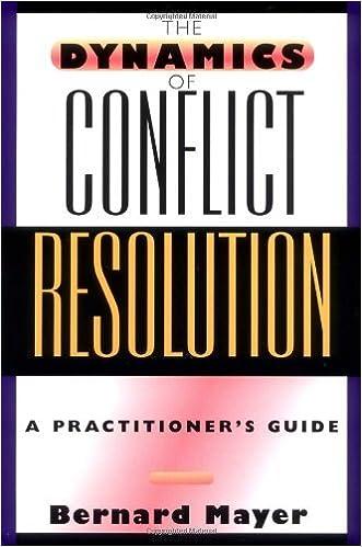 the dynamics of conflict mayer bernard