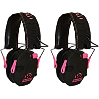 Walkers Razor Hearing Protection Pink Slim Shooter Folding Earmuffs, 2 Pack