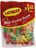Farley's & Sathers Candy, Sour Gummy Bears, 3 Ounce (Pack of 12)