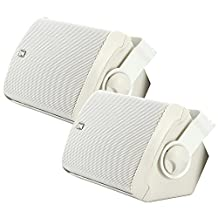 Poly-Planar 5-Inch x 7-Inch Compact Marine Box Speakers (White, Pair)