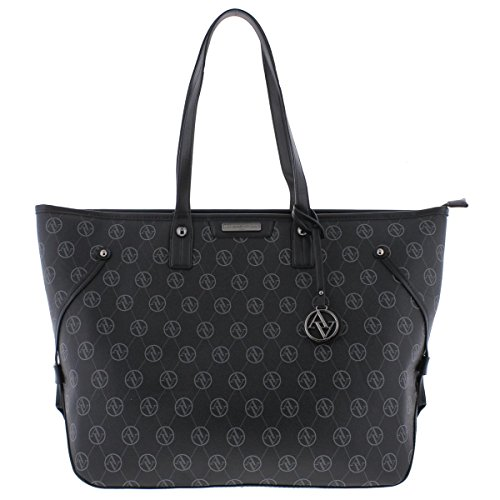 Adrienne Vittadini Womens Signature Collection Tote Handbag Black Extra Large ()