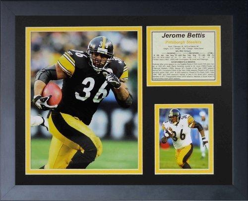 """Legenden Sterben Nie """"Jerome Bettis"""" gerahmtes Foto Collage, 11 x 35,6 cm von Legends Never Die"""