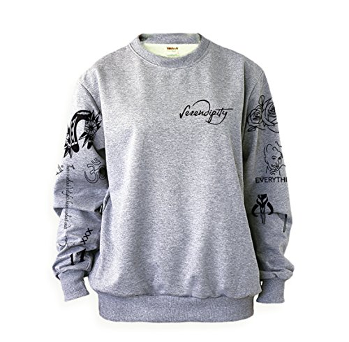 Nicolette Fabric - Noonew Women's Halsey Tattoos Sweatshirt Medium Grey