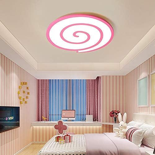 Cute Pink Ceiling Light, Modern Round Acrylic LED Lighting Ceiling Light, Living Room Bedroom Decoration Ceiling Light (Color : 60cm)