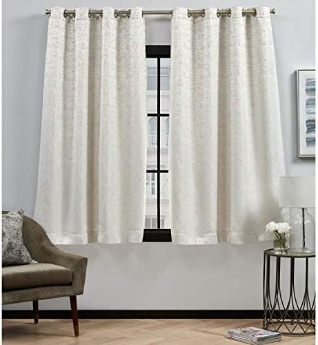 Elle Decor Felicia Room Darkening Grommet Top Curtain Panel Pair