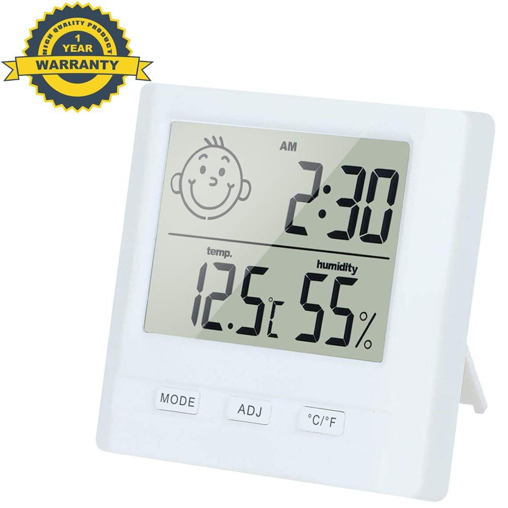TPFOON Professional Accuracy Indoor Temperature and Humidity Monitor for Home, Office, Nursing Room, Greenhouse, Warehouse (Battery Included) JFIDTAHN