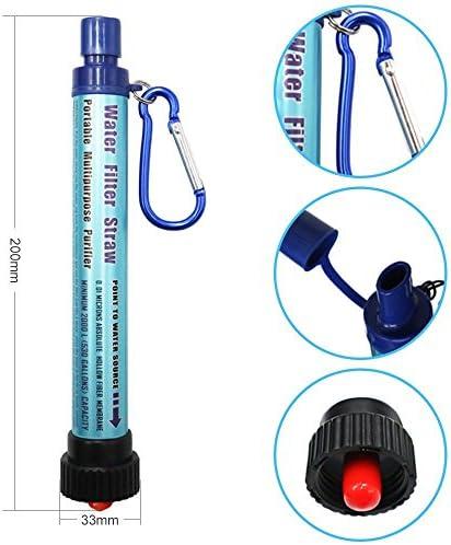 Portatifs personnels Filtre à eau Paille Outdoor Potable D/'Urgence Survie Outils