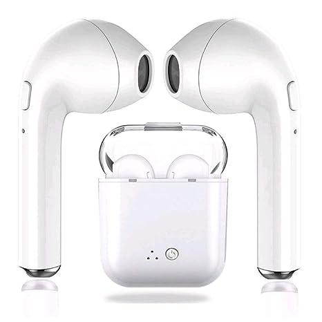 Auriculares Inalámbricos Bluetooth 5.0, i7 TWS Stereo Deportivos Cascos CVC 6.0 con Funda de Carga
