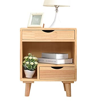 Amazon.com: Bedside table Nordic style Economic simplicity ...