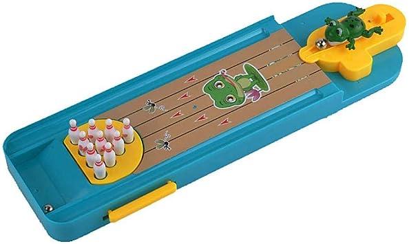 La novedad Mini Juego de mesa Bowling dedo Catapulta rana Bowling placa de escritorio de la