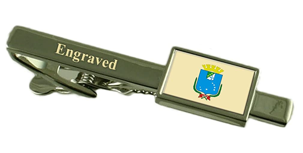Sao Luis City Brazil Flag Tie Clip Engraved in Pouch