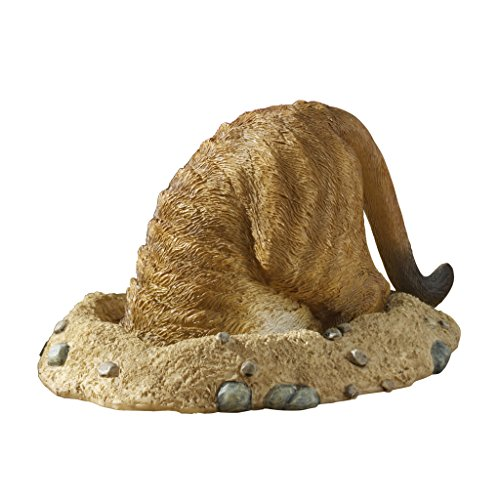 Design Toscano Kalahari Meerkat Into Hole Statue