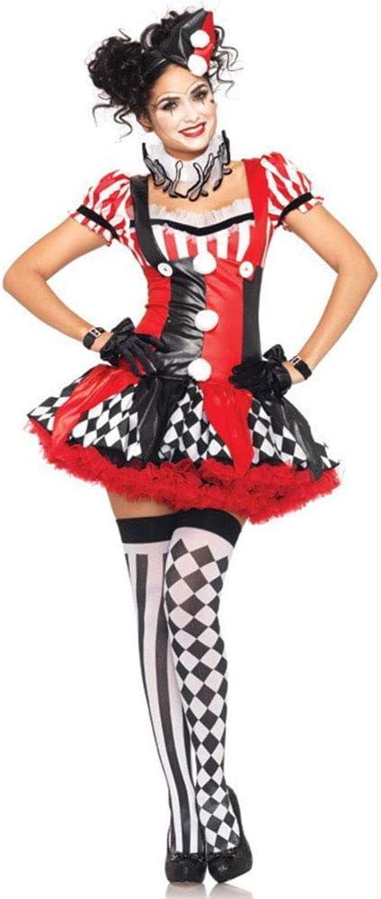 LBFKJ Traje de Cosplay, Uniforme de Halloween, Disfraz de Payaso ...