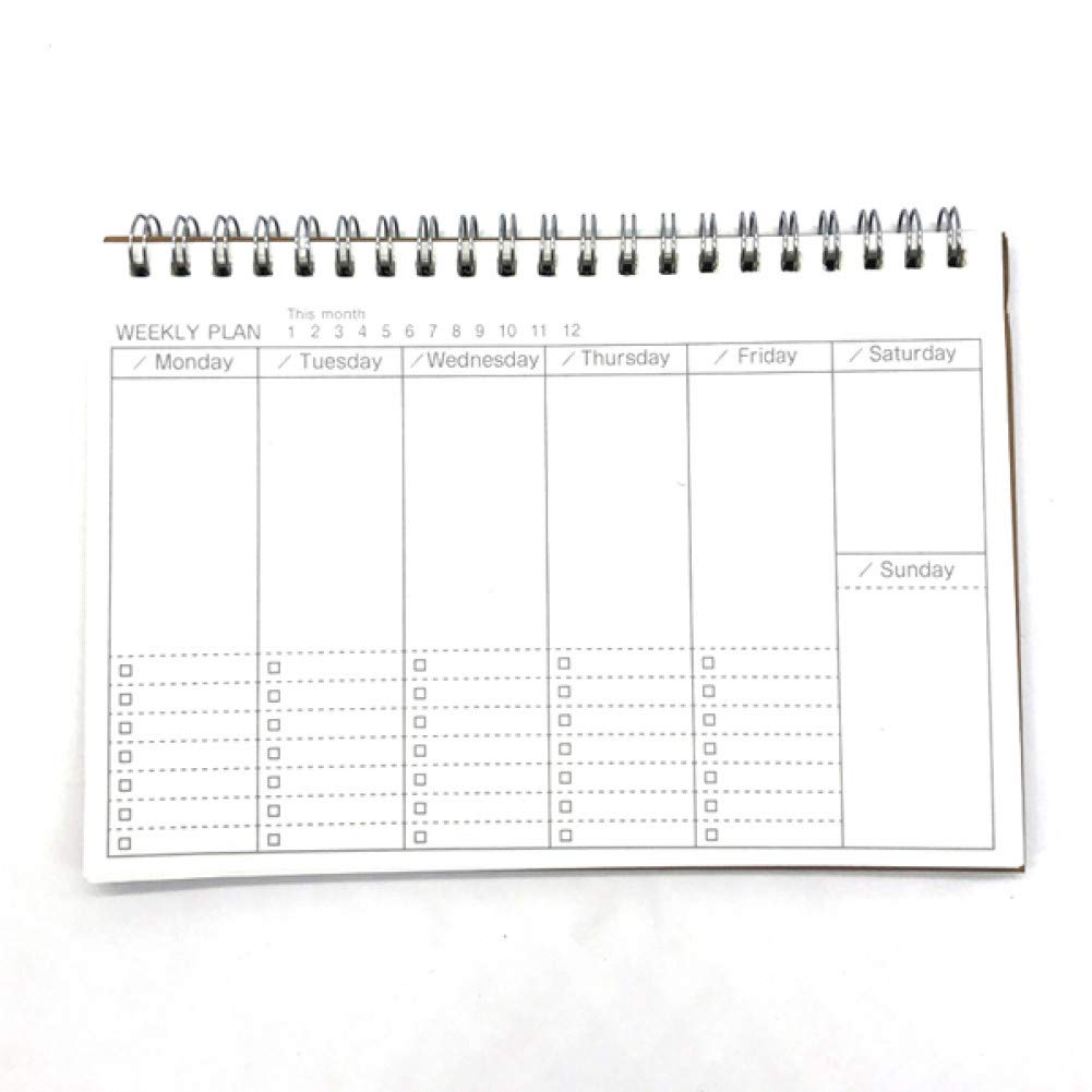 VQEWZ Agenda Planificador Semanal Cuaderno Agenda Libretas ...