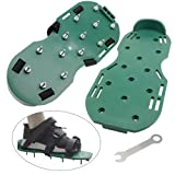 WGCD Lawn Aerator Shoes Heavy Duty Spiked Sandals Shoes Garden Lawn Tool with 3 Adjustable Strips, 1 Pair