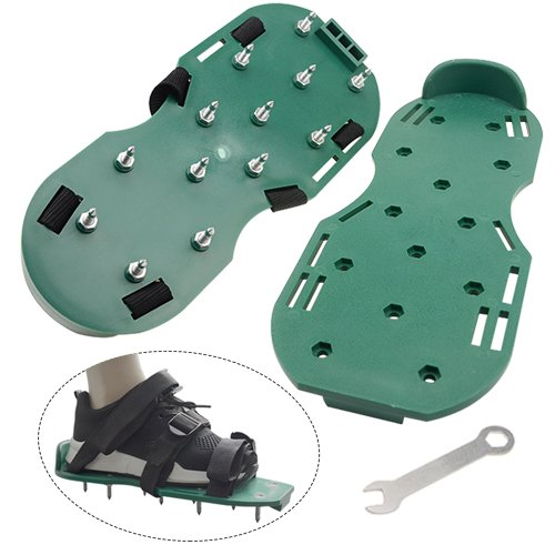 WGCD Lawn Aerator Shoes Heavy Duty Spiked Sandals Shoes Garden Lawn Tool with 3 Adjustable Strips, 1 Pair by WGCD