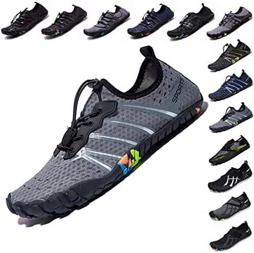 9edea16c76ab37 LINGTOM Mens Womens Aqua Water Shoes Quick Dry Barefoot Sports Exercise for  Walking Swimming Diving Beach