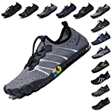 Sporting Goods : LINGTOM Mens Womens Aqua Water Shoes Quick Dry Barefoot Sports Exercise for Walking Swimming Diving Beach Surf Pool Yoga,Grey 8 M US Women / 6.5 M US Men