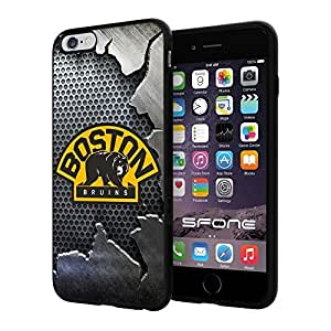 "Boston Bruins Crack Iron #2005 iPhone 6 Plus (5.5"") I6+ Case Protection Scratch Proof Soft Case Cover Protector by runtopwell"