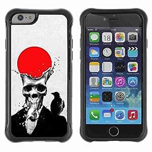 "A-type Arte & diseño Anti-Slip Shockproof TPU Fundas Cover Cubre Case para 4.7"" iPhone 6 ( Skull & Crow )"