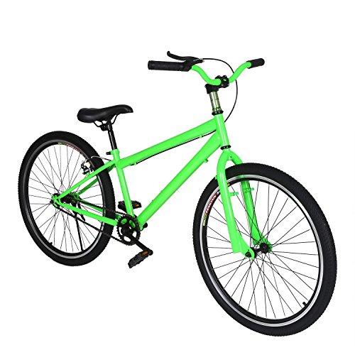 (Ferty 2017 Folding Mountain Bike 26'' Dual Suspension 6 Speed Equator Bike,Silver[US STOCK] (Green))