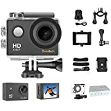 DveeTech Action Camera HD Wifi 1080P Sports Camera Waterproof 30M Underwater Camera 12Mp Motorcycle Helmet Action Cam Bike Forehead Cycling Snorkeling Climbing With Mounting Accessories Kit for kids
