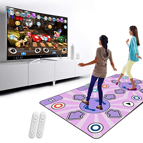 Wired USB Dance Mat,wear Resistant Foldable Dance Pad Children Dance Revolution Musical Mat Hd Tv Computer Dual- Operating Simple-a ()