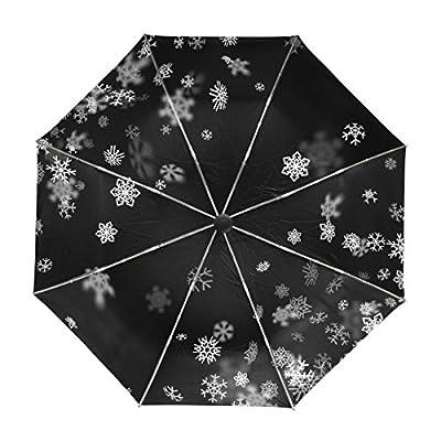 My Daily Snowflake Christmas Travel Umbrella Auto Open Close UV Protection Windproof Lightweight Umbrella good