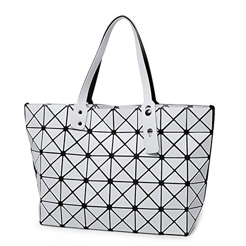 Find-me Geometry Handbag New Autumn and Winter Women Matt Brushed Japanese Quilted Cube Package(White£
