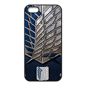 Attack on Titan Black Phone Case for iPhone 5S