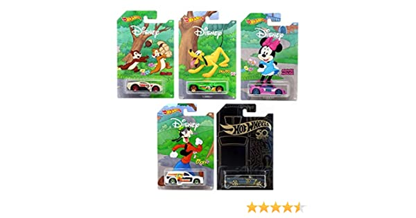 Set of 5 Hot Wheel 2019 Disney Anniversary 90th Mickey Mouse Exclusive Edition with Black /& Gold Bonus Die-Cast Vehicles 1:64 Scale Gift Pack Collectible