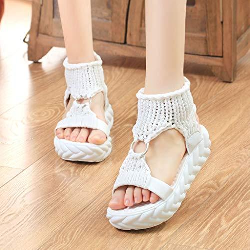 Bianca Sandali Size Comfort Con Per Vovotrade Casual Suola Zeppa Estiva Plus Scarpe Accogliente Donna Sneakers Intrecciate Morbide CHqxOwa0O