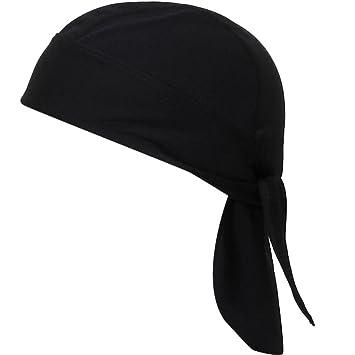 Pañuelo Cabeza Sombrero Pirata Anti-ultravioleta Del Cierre De Lazo Ciclismo (Negro)