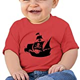 Pirate Ship 6 - 24 Months Baby T-shirts Round Neck Shirt Red 24 Months
