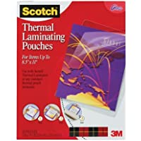 Scotch (TM) Thermal Laminating Pouches, 8.5 Inches x 11 Inches, 100 Pouches (2 Packs of 50)