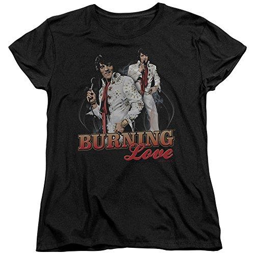 Elvis Presley The King Rock Burning Love Women's T-Shirt Tee -