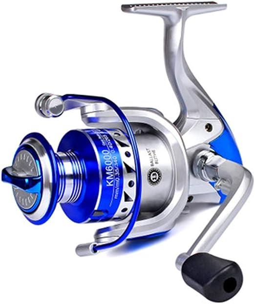 CYQAQ Carrete de Pesca Spinning Giratorio Metal Completo Ligero ...