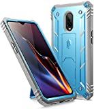 OnePlus 6T Rugged Case, Poetic Revolution [360 Degree Protection] Full-Body Rugged Heavy Duty Case with [Built-in-Screen Protector] for OnePlus 6T (2018) - Blue
