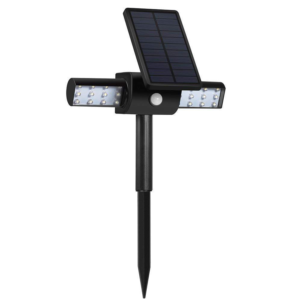 A&ZMYOU Solarlicht Solar Lichter für Garten Solar Wireless Lampe für Outdoor, Solar Garten Beleuchtung Wasserdicht Drehbar mit Lichtsteuermodus oder Bewegungssensor, Aufladung über USB Kabel oder Sola