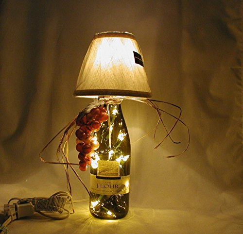 Italian (Tuscan) Style Wine Bottle Table Lamp Crafted From a Recycled J. Lohr Chardonnay wine Bottle. Shipping is included