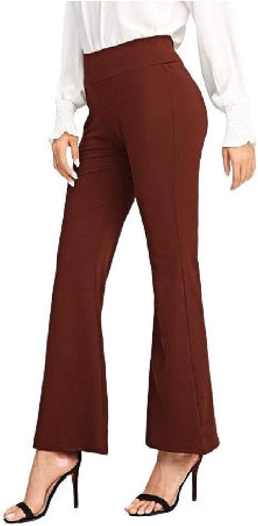 VITryst Womens Patch Comfort Highwaist Elegant Solid Color Wide Leg Culottes Pants