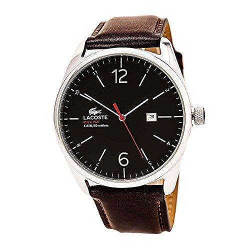 Lacoste Men's 2010682 Austin Leather Strap Watch Brown/Black One Size