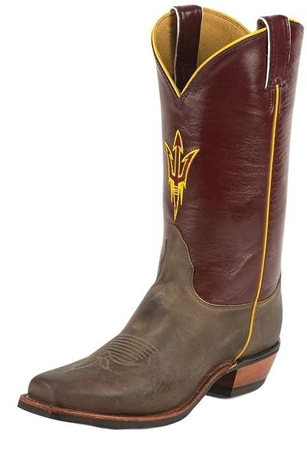 Nocona College Men's Arizona State University Boot Square Toe Tan 11.5 D(M) US