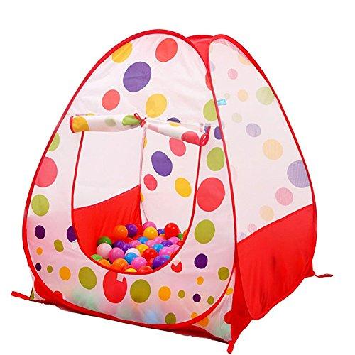 Pop Up Kids Play Tent Hideaway Portable Hut Folding Play ...