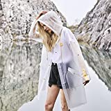 L-Rain Durable TPU Clear Rain Coat for Adults