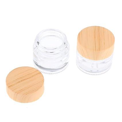 KESOTO 2 Stück Nachfüllbar Cremetiegel Cremedose Leerdose Leertiegel Glastiegel Kosmetik Behälter mit Deckel Lebensmittelaufbewahrung
