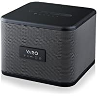 VARO Portable WiFi+Bluetooth Multi-Room Speaker, Cube, Black (iOS Only)