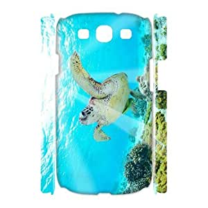 LZHCASE Cover Case Tortoise 3D Diy For Samsung Galaxy S3 I9300 [Pattern-1]